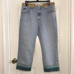 Express Blues Low-Waist Cropped Denim Jeans 11/12